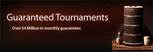 Over $4 Million in monthly tournament guarantees on Cake Poker