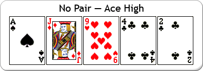 no pair - ace high