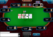 Full Tilt Poker - racetrack table